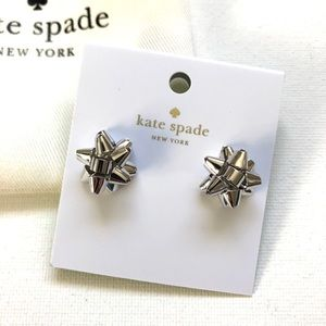 Kate Spade Silver Bow Earrings - new with tags